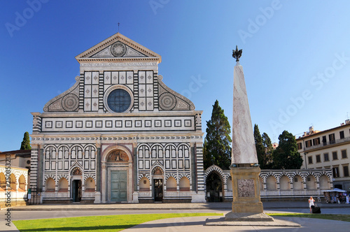 Fotografia, Obraz  Santa Maria Novella is a church in Florence, Italy, situated just across from the main railway station which shares its name