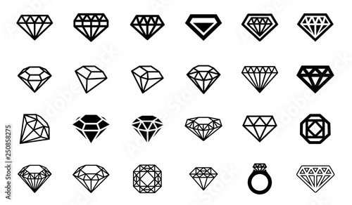 Foto  Vector illustration concept of diamond logo