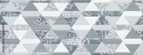 Fotografie, Obraz  Digital tiles design. Ceramic wall and floor