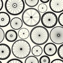Bicycle Wheel Seamless Pattern...