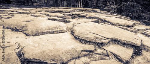 Fotografie, Obraz  Large Stones at The Ledges Overlook, Two Tone