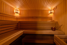 Sauna Interior Spa Room. Relax...