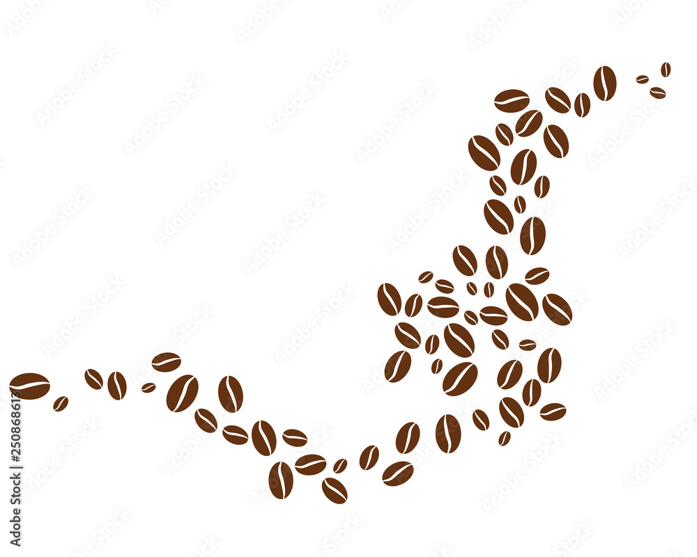 Fototapeta coffee bean icon vector