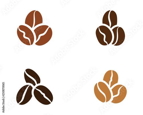 Tablou Canvas coffee bean icon vector