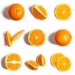 Pomarańcze na białym tle