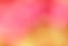 Abstract Photo;,blurred Fuchsia Background With Beautiful Bokeh; Red, Orange, Yellow