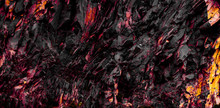 Red And Black Rock Texture  - ...