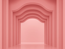 Coral Pink Classical Interior ...