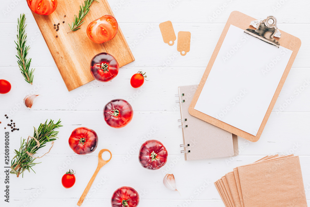 Fototapety, obrazy: Tomatoes Mar Azul on white wooden table background