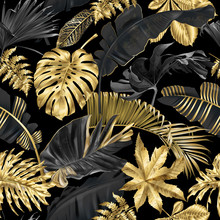 Vector Pattern With Gold Black...