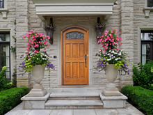 Elegant Wooden Front Door Of S...