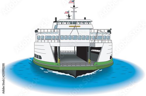 Fotografija Ferry Vector Illustration