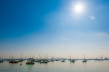 Boats Moored At Williamstown Harbour, Melbourne, Victoria, Australia