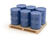 Steel Barrels On Pallet