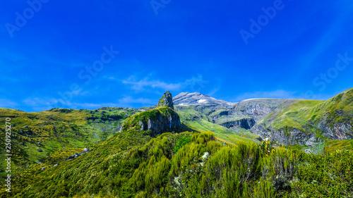 Climbing Mount Taranaki near New-Plymouth, New-Zealand