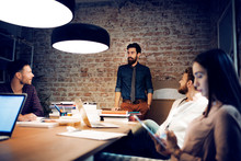 Four People In Office During Meeting