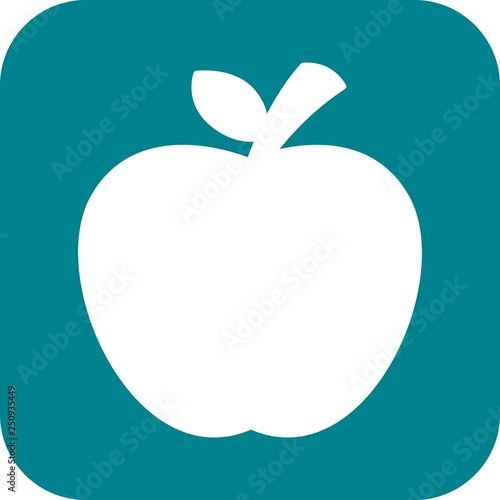 Fototapeta  Vector Apple Icon obraz na płótnie
