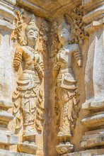 Old Stucco Buddha And Angel Fi...