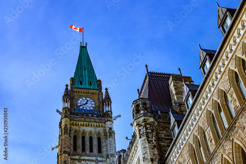 Obraz na płótnie Ottawa CANADA - February 17, 2019: Federal Parliament Building of Canada in Otta