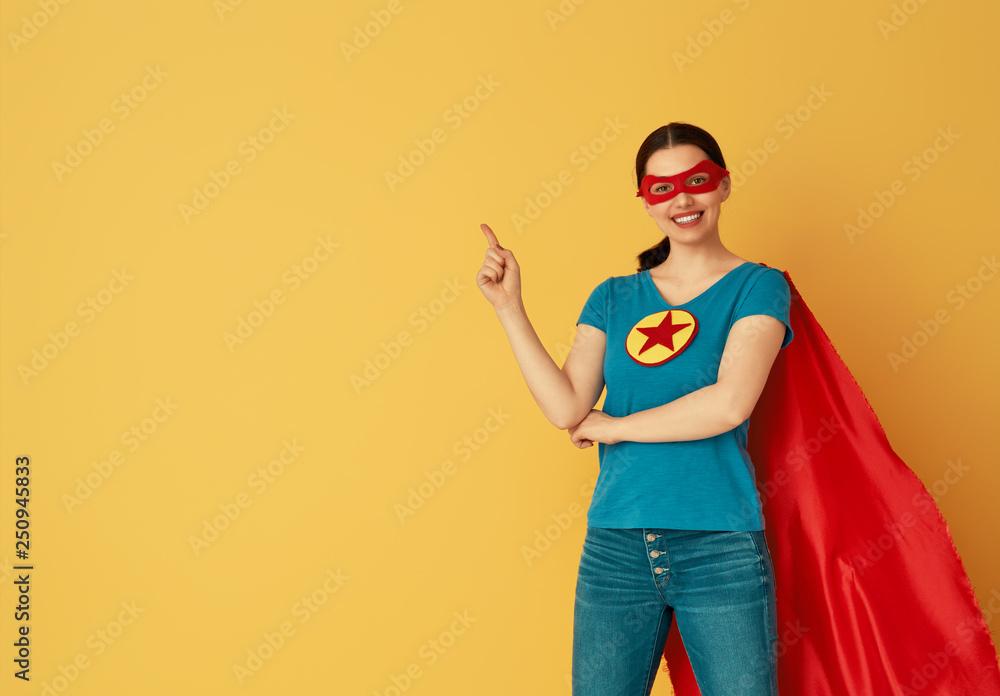 Fototapeta woman in superhero costume