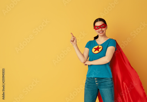 Fotografie, Obraz  woman in superhero costume