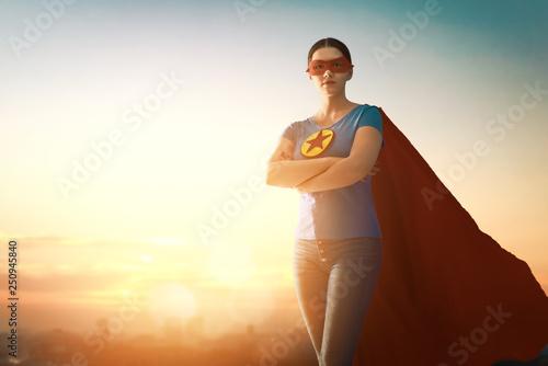 woman in superhero costume Wallpaper Mural