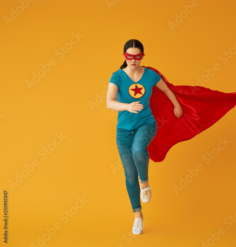 Photo  woman in superhero costume