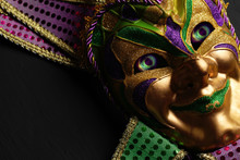 Colorful Mardi Gras Mask With ...