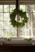 Wreath Hanging On Window
