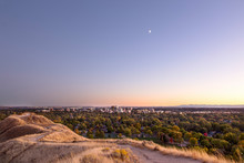 Winding Foothills Trail And City Overlook In Boise, Idaho