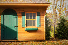 Wooden Shed In Backyard