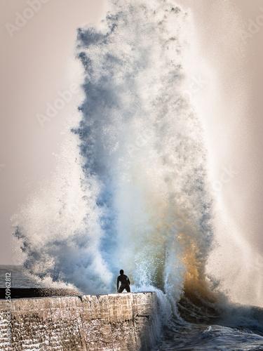 Fotografie, Obraz  Les vagues de Ploemeur