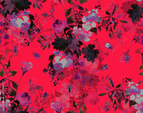 bezszwowy-wzor-kwiatowy-i-fauny-foka-w-stylu-klasycznym-akwarela-bukiet-letnich-kwiatow-ziol-chrzaszczy-i-owadow-projekt-druku