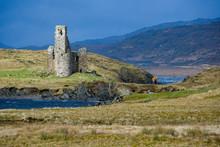 Ruins Of Ardverk Castle - Loch Assynt - Scotland