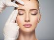 Leinwandbild Motiv skin check before plastic surgery