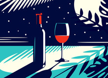 Vector Illustration Of A Night...