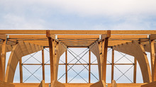 Detail Of A Modern Wooden Arch...