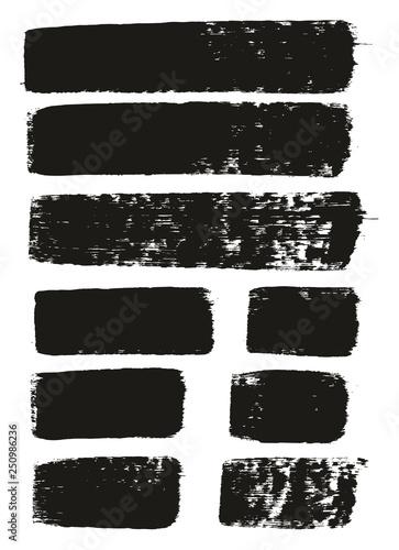 Fotografía  Paint Brush Medium Lines High Detail Abstract Vector Background Set 130