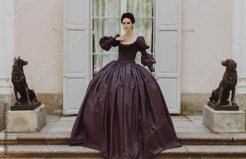 Fotomural Renaissance lady princess crinoline dress