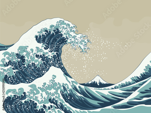 Great Wave Vector Illustration