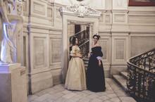 Ladies In 19 Century Dresses