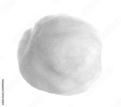 Obraz na plátně One snowball isolated on white,with clipping path, series
