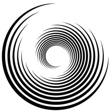 Spiral, Swirl, Twirl Abstract Element Over White