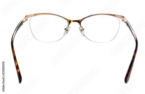 Eyeglasses isolated on white.