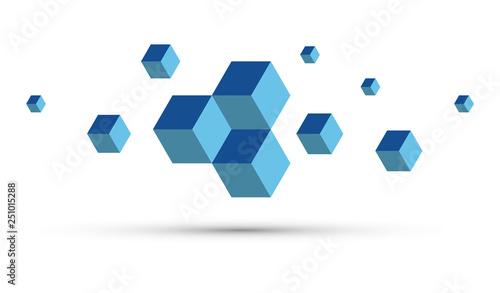 Valokuva cubi, coesione, cubo, sfondo, illusione ottica,