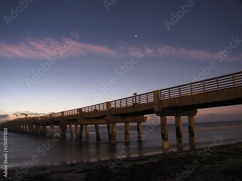 Canvas Prints Cappuccino pier at sunrise