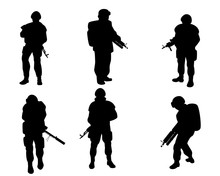 Equipped Military With Weapons