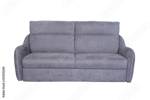 Isolated contemporary grey sofa - Buy this stock photo and ...