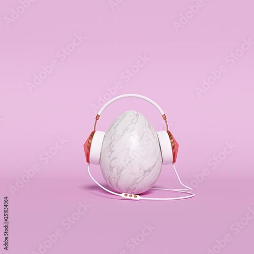 Fotografia, Obraz  Music listening Minimal concept