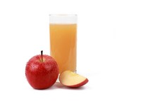 Apple Juice -  ​red Apple With Drops Of Water And A Glass Of Naturally Cloudy Apple Juice In Front Of White Background